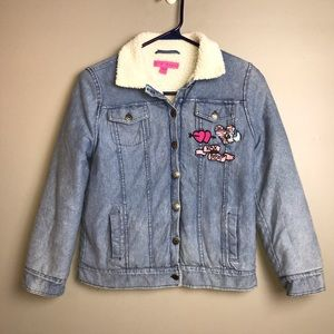 Betsey Johnson Girl's Chambray Jacket Size 12
